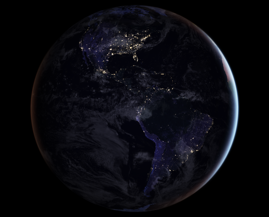 夜の地球ビュー